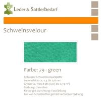 Schweinsvelour - green