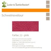 Schweinsvelour - pink