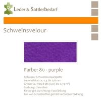 Schweinsvelour - purple