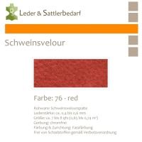 Schweinsvelour - red