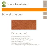 Schweinsvelour - rust
