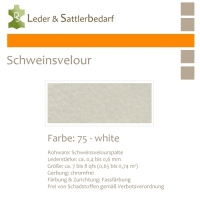 Schweinsvelour - cremewhite