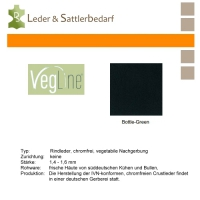 VegLine Nappa - halbe Haut - bottle-green
