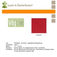 VegLine Nappa - halbe Haut - feuerrot
