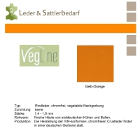 VegLine Nappa - halbe Haut - gelb-orange