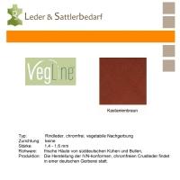 VegLine Nappa - halbe Haut - kastanienbraun