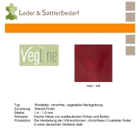VegLine Trapper - halbe Haut - ruby-red