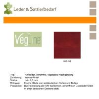 VegLine Trapper - halbe Haut - rust-red