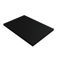 Zellkautschuk - schwarz - 3mm - Zuschnitt 33 x 39,5 cm